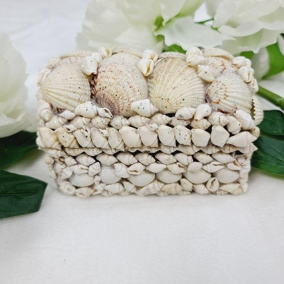 Other - Vintage Natural Seashell Jewelry Box
